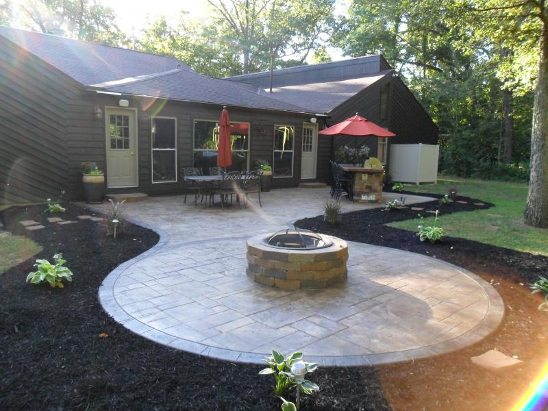 Stamped patio near Grove City.