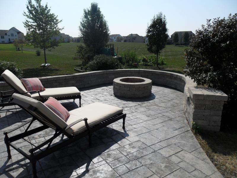 Concrete patio in Lewis Center, Ohio