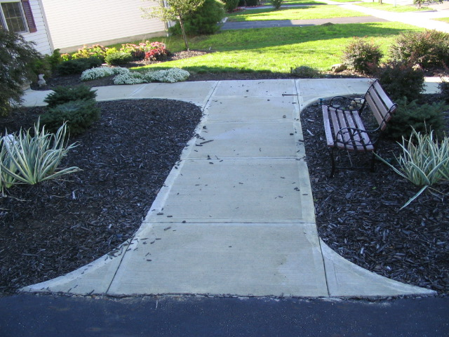 Broom finished sidewalk with hand cut joints near Blacklick, Pataskala, Ohio
