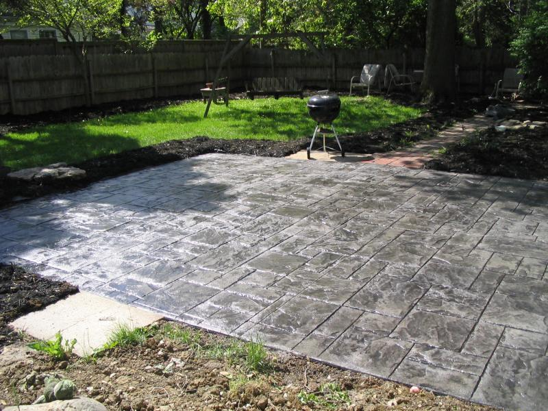 Grey patio