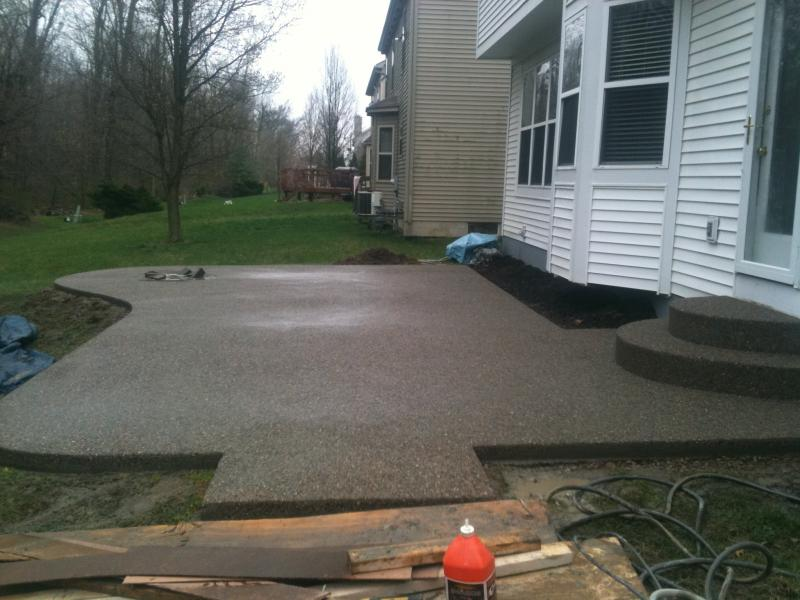 Exposed Aggregate Patio Near New Albany, OH