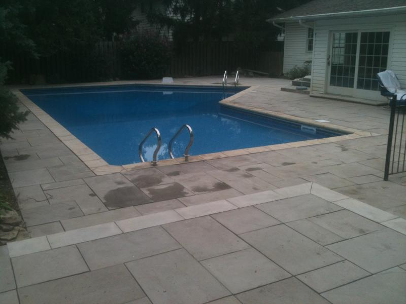 Paver Pool deck in Upper Arlington, OH