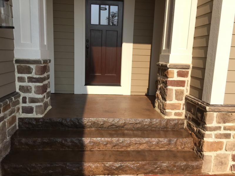 Stone faced step liners