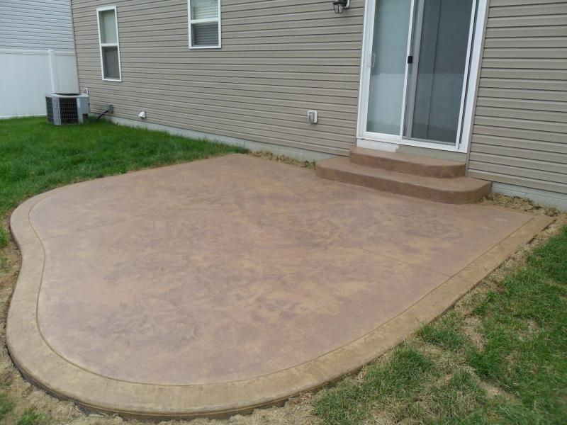 Textured skin stamped finish with boarder in Grove City, Ohio